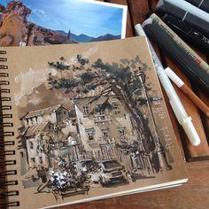 И ещё денёк в Perast. Даже открыточку купила) буду вспоминать#пленер#perast#tonedpaper#archisketcher#montenegro#sketch_architect#sketching#summertime#markers#maxgoodz#arch_sketch#архскетч#sketchwalker#touchmarkers#sketchzone
