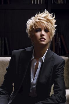 short hair,I really like this but if I did this, so many of you would make fun of me....