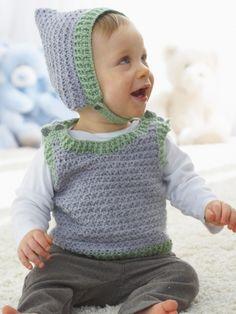 Elfin Hat and Vest, free pattern
