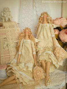 Куклы Тильды ручной работы. Ярмарка Мастеров - ручная работа. Купить Ангелы…