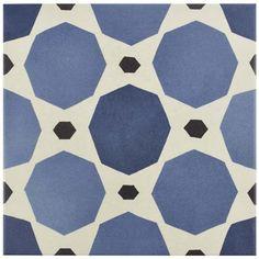 """Show details for 7.88""""x7.88"""" Caprice Colours Sapphire Porcelain F/W Tile"""