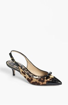 Perfect work shoe with a little leopard thrown in ... Dolce Leopard Print Pump available at #Nordstrom