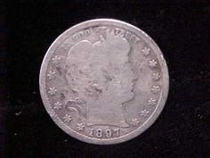 1897 s Barber Silver Quarter Scarce RARE Date Low Mintage 542 000 | eBay