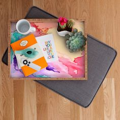 DENY Designs Rosie Brown Color My World Rectangular Tray & Reviews | Wayfair