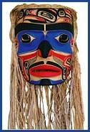 Northwest Indian mask: info on protected native mask practices