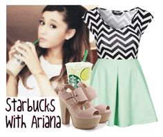 """Starbucks With Ariana"" by albamonkey ❤ liked on Polyvore featuring Jane Norman, Oh My Love, women's clothing, women's fashion, women, female, woman, misses and juniors"
