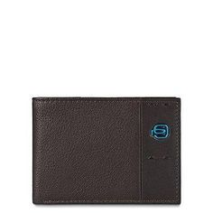 Piquadro Men's Wallet with Coin Pocket and Credit Card Slots Brown One Size