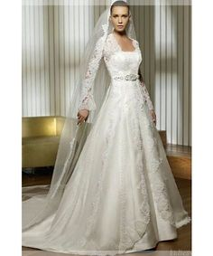 Hochzeitskleider A-Linie Spitze Fotos