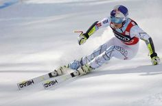 Lindsey Vonn, of the United States, speeds down the course on her way to win an alpine ski, women's ... - AP Photo/Marco Trovati