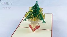 Kaili's 3D Christmas Tree Premium Quality Pop up Gift Handmade Kirigami ...