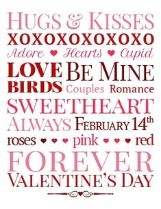 Valentine's Day Subway Art #Free #Printable #DIY #Decor
