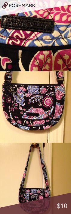 Vera Bradley NWOT, never used!!!!! Black, purple & blue crossbody!! Great little purse to take on shopping trips, or back to school!! Vera Bradley Bags Crossbody Bags