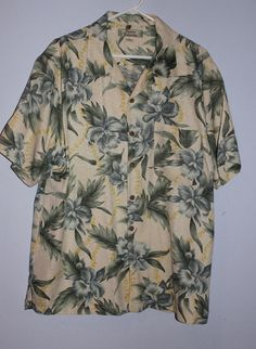 Men's Tommy Bahama 100% Silk Flora Hawaiian Sport Shirt #TommyBahama #Hawaiian