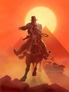 Indiana Jones art by ?