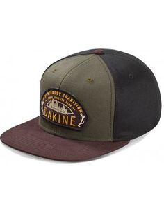 5376f34558a4b Dakine Tradition Forest snapback - brown green Snapback
