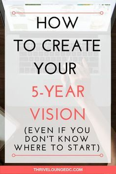 Creating a 5-year vision is nowhere near easy. It takes a commitment to trying to uncover what your really want out of life and strategizing on how to get it - without neglecting the other important areas of your life.