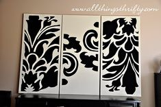 All Things Thrifty Home Accessories and Decor: Tutorial: Decorative Wall Art --this is really pretty, but pretty complicated to make--very detailed jig-saw work. For those of us without the woodworking skills, I think it could also be pretty to just paint image onto boards rather than making it 3-D.
