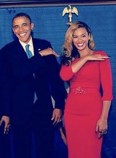 President Obama and Beyonce brushing that dirt off their shoulder