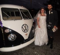 Cam and I had the most awesome of wedding cars, an ivory on black VW combi. It was so cool and I wish I had my own!! Go for what you want, not the 'norm'!