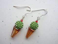 Swarovski Crystal and Sterling Silver Green by OldeTowneJewelry, $28.00