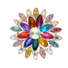new arrived  Big Flower Brooches High-Grade Lovely Crystal Brooch pins for  Women  wedding  party Gift