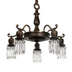antique chandelier with prisms station nashville tn