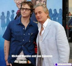 Michael Douglas and son Cameron, who is carrying on those famous and handsome Douglas men looks