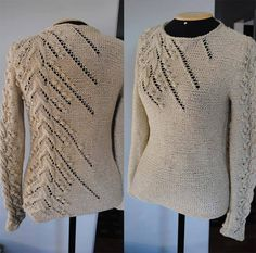 Sweater Knitting Patterns, Lace Knitting, Knit Patterns, Knit Crochet, Knitwear Fashion, Knitting Accessories, Knitting Projects, Knitted Hats, Couture