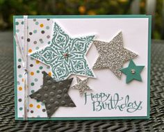 Krystal's Cards and More: Bright & Beautiful Card Kit Silver Birthday