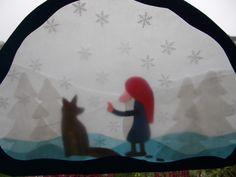Waldorf Transparentbild Tomte und der Fuchs von Puppenprofi auf DaWanda.com