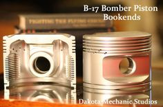 Bookends made from an authentic piston from a World War 2 Era plane! So cool...