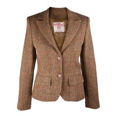 Harris Tweed - HARRIS TWEED Ladies Tammy Jacket HB310 B5 100% Pure New Wool Handwoven Mustard Check - Dunedin Cashmere
