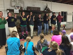 Check out some of our awesome international camp staff leading girls in fun songs at Camp Wasiu II!