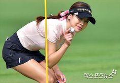 shin ae ahn Girls Golf, Ladies Golf, Golf Player, Lpga, Hole In One, Cute Girls, Athlete, Baseball Cards, Sports