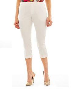 Worthington Sateen Cropped Pants flat front white women's size 10, 14 NEW  16.99 http://www.ebay.com/itm/Worthington-Sateen-Cropped-Pants-flat-front-white-womens-size-10-14-NEW-/251426477603?ssPageName=STRK:MESE:IT