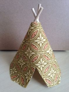 Fabric Teepee Cake Topper Light Green Yellow Orange by POPpretties