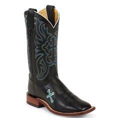 Tony Lama Women's Cross Inlay Western Boots