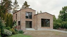 Architecture firm Hermansson Hiller Lundberg has completed a monolithic brick house for a sloped site in Sundsvall, Sweden Modern Residential Architecture, Concept Architecture, Facade Architecture, Sweden House, Modernisme, Brick Paneling, Best Architects, Photo Instagram, Villa