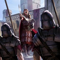 Fantasy Art Elder Scrolls Mentor of the Watch Warrior Female Soldier Cyrodiil Empire Legion Army
