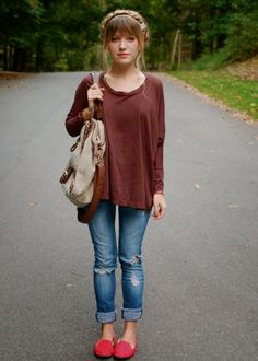 @Lindy Faulkner Maddox in the TYSA Meryl Top in Chocolate.