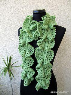 Ravelry: Ruffle Lace Scarf Tutorial pattern by Lyubava Crochet