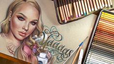 Nikkietutorials - Time lapse drawing with voice-over