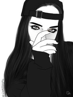 imagem discovered by clxtb_. Discover (and save!) your own images and videos on We Heart It Girly Art, Tumblr Drawings, Tumblr Art, Black Girl Art, Art, Art Sketches, Digital Art Girl, Cartoon Art, Tumblr Outline