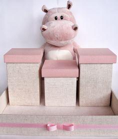 Arte na Caixa: Kit Higiene Menina e Caixa Porta Trecos