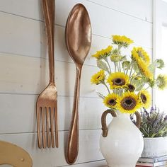 Spoon Wall Decor Copper
