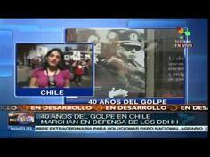 Más de 60 mil chilenos marchan a 40 años de la dictadura de Pinochet