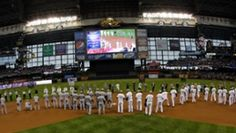 The Official Site of The Milwaukee Brewers   brewers.com: Homepage - How appropriate for Memorial Day - 40 members of the military got to throw out the first pitch to members of both teams