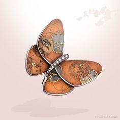 Lacquered Butterfly Suzu T clip, Van Cleef & Arpels