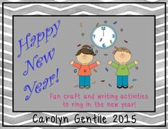 Happy New Year PacketA Craft and Writing Activities to Ring in the New YearCan be used year after year!Table of Contents:Pg. 3-12  How Did You Ring in the New Year?  a writing and craft activity  three styles of writing paper  copy the patterns onto appropriate colored construction paper  position the pupils in the eyes any way you want to  add a red crayon smile, and black crayon eyebrows  glue the nose and glue the hands pointing straight up at the number 12  add the hat tilted to the…
