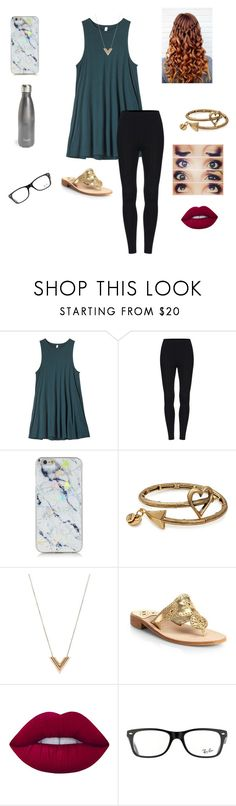 """""""Thought This Was Rlly Cute!"""" by jweber-14 ❤ liked on Polyvore featuring RVCA, Alex and Ani, Louis Vuitton, Jack Rogers, Lime Crime, Ray-Ban and S'well"""